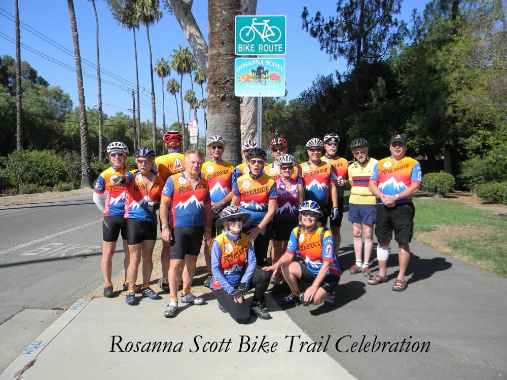Rosanna Scott bike trail celebration